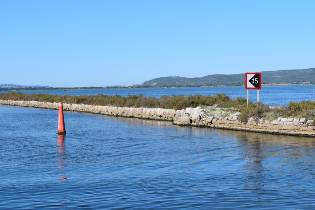 Right hand marker, the channel is 15 metres from the bank